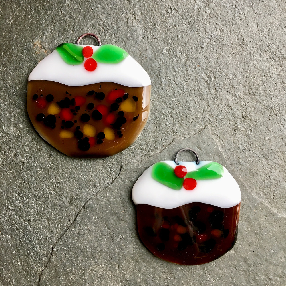 Fused Glass Christmas Puddings at Rainbow Glass Studios