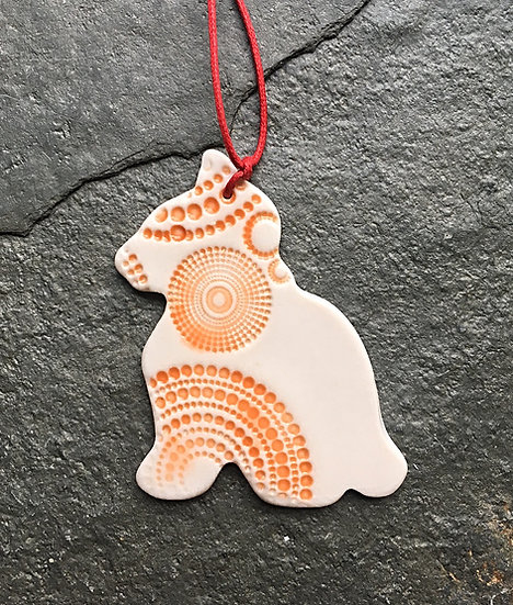 Porcelain Menagerie: Ginger Kitty Decoration
