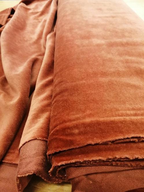 Velvet jersey rust orange