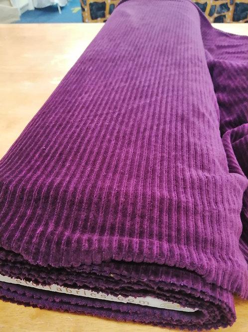 Ribbed velvet jersey purple