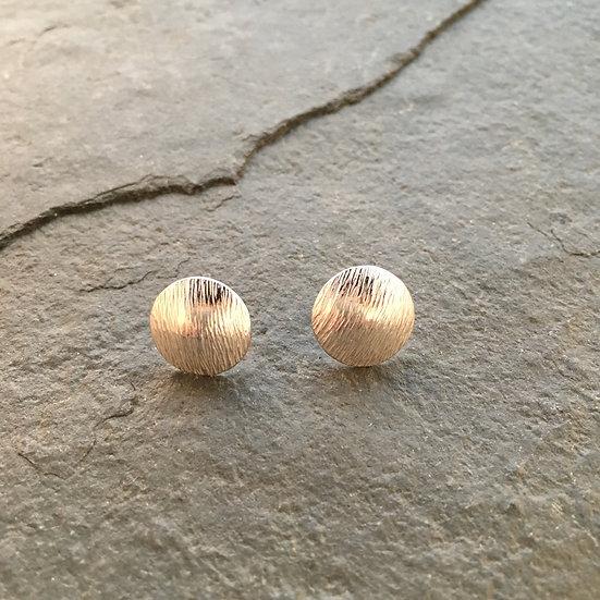 Frost Domed Sterling silver stud earrings 925