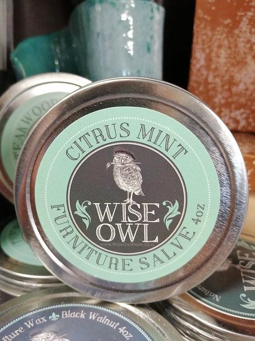 Wise Owl Furniture Salve Citrus Mint 4oz
