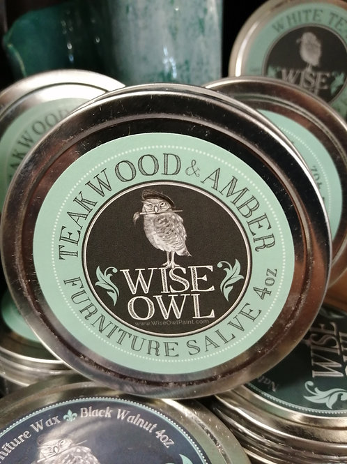 Wise Owl Furniture Salve Teakwood & Amber 4oz