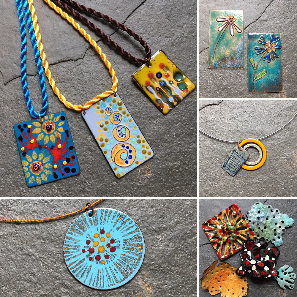 Kiln Enamelled jewellery beginners day course | Rainbow Glass Studios | The Jewellery Boat Blog