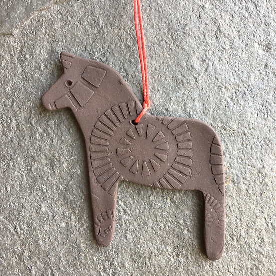 Dala Dark Horse - home decoration - stoneware