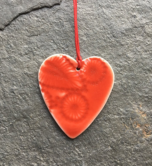 Red Love Heart - Porcelain Gift Decoration
