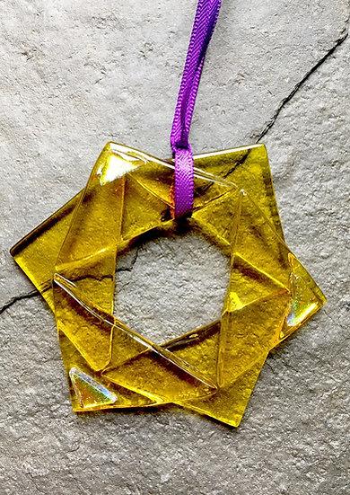 Star of David - fused glass Christmas Decoration