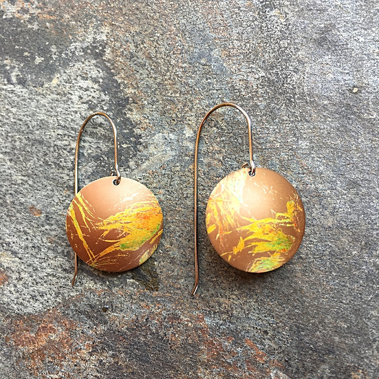 Anodised Aluminium Earrings Colours of Cornwall