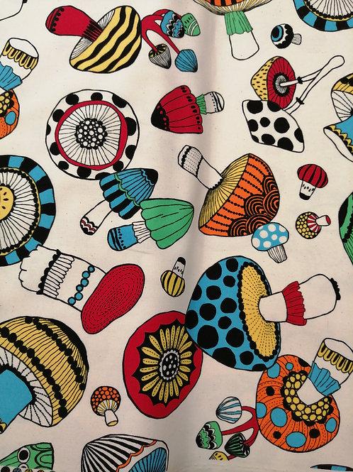 Japanese Cotton heavy weight mushroom print