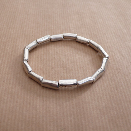 Baguette bead stretch bracelet