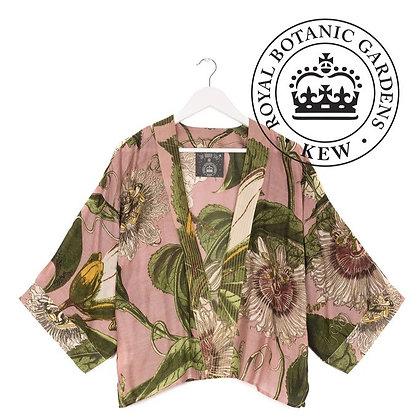 One Hundred Stars Kew Passionflower pink kimono jacket