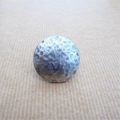 Hammered round adjustable ring