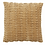 Thumbnail: Sand Velvet Ruched and Stitched Cushion