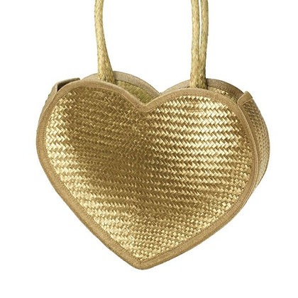 Gold Heart Shaped Bag