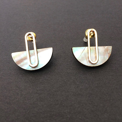 Cressida mini shell earrings