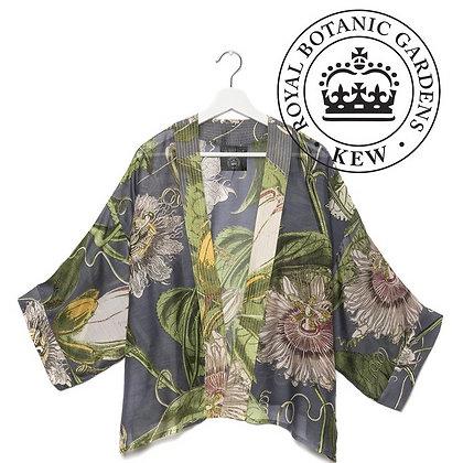 One Hundred Stars Kew Passionflower grey kimono jacket