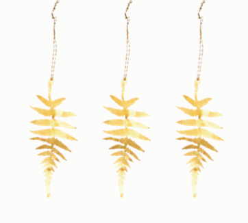 Brass Fern Leaf Tabwa Leaf Decorations