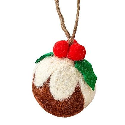 Felt Pudding Decorations (5)