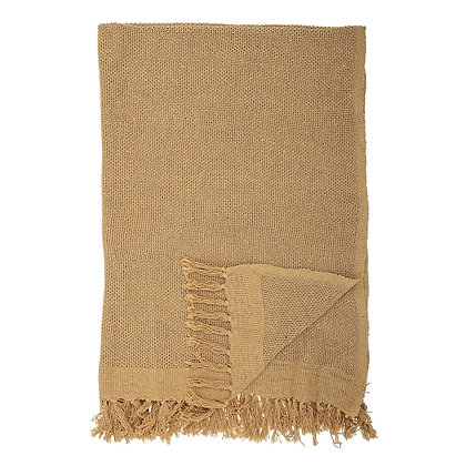 Sand Coloured Recycled Cotton Throw