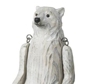 Carved Wooden Polar Bear (large)