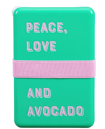 Peace Love & Avocado lunchbox