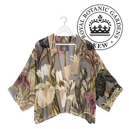 One Hundred Stars Kew Iris grey kimono jacket