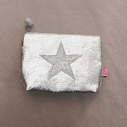 Gold star metallic purse
