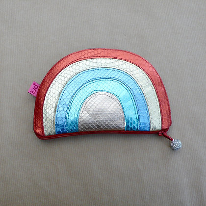 Rainbow metallic purse