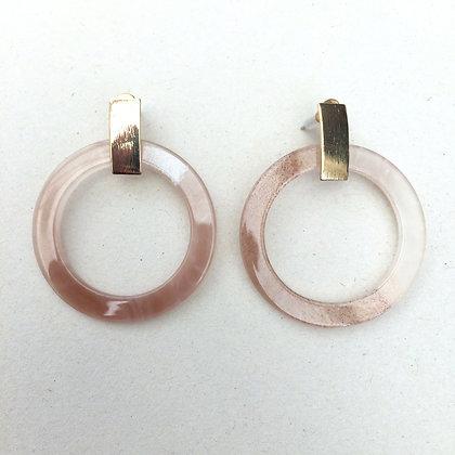Sinead resin circle earrings