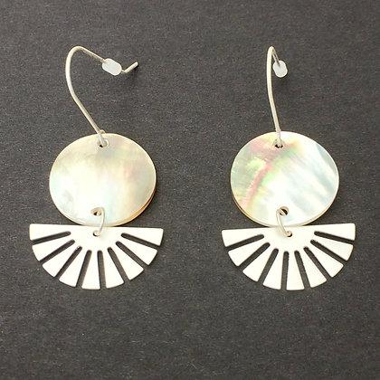 Betsy shell and fan drop earrings