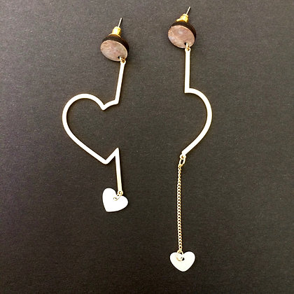 Sofia piece of my heart earrings (silver)