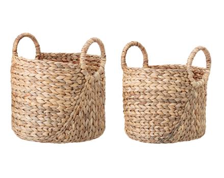 Water Hyacinth Baskets - Set of 2
