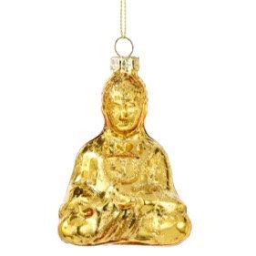 Gold Glass Buddha Decoration