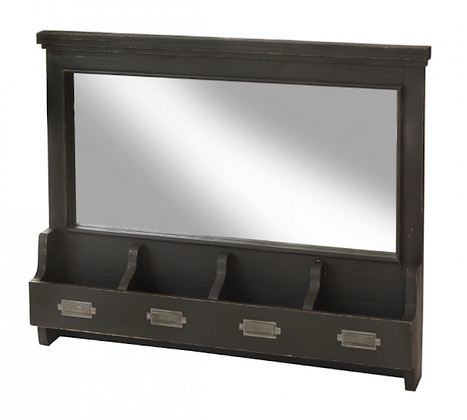 Large Wall Mirror with Compartments