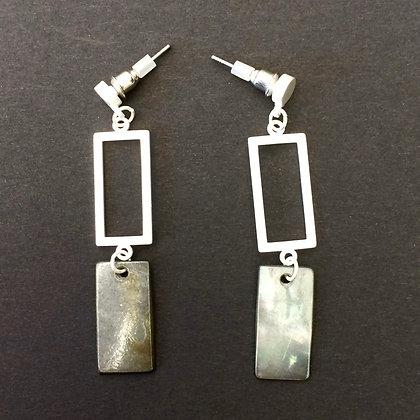 Perdi rectangular drop earrings