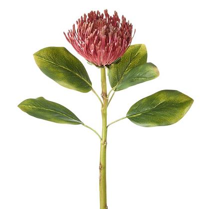 Faux Deep Pink Protea Stem