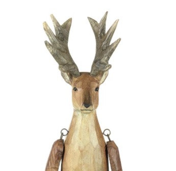 Carved Wooden Reindeer (medium)