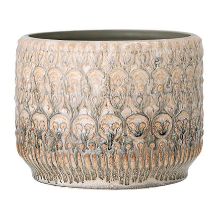 Natural Glazed Stoneware Plant Pot