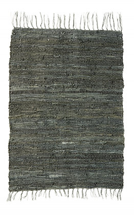 Soft Green Woven Leather Rug