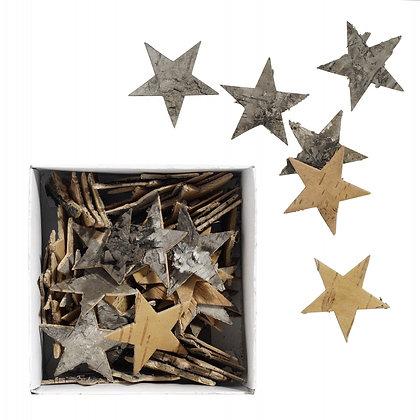 Natural Bark Star Table Confetti