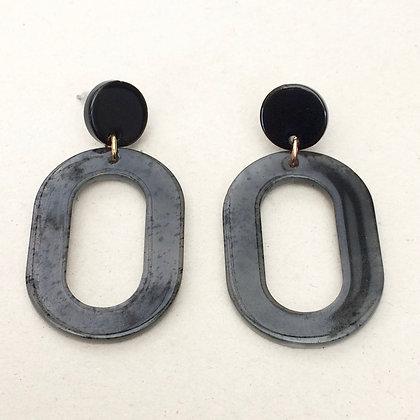 Janette oval drop earrings