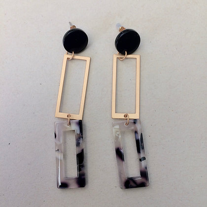 Mitzi rectangular drop earrings