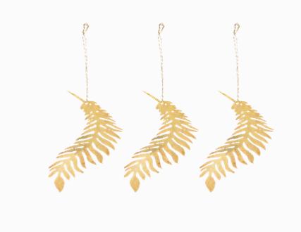 Brass Palm Leaf Tabwa Leaf Decorations