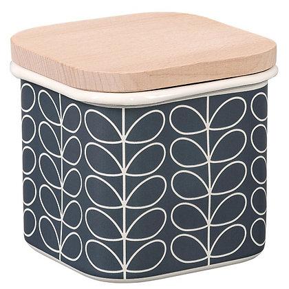 Orla Kiely Enamel Storage Jar Slate Blue