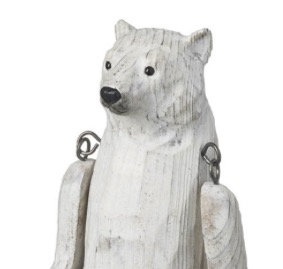 Carved Wooden Polar Bear (medium)