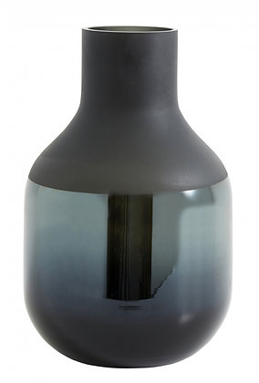 Dark Grey Luxe Glass Vase