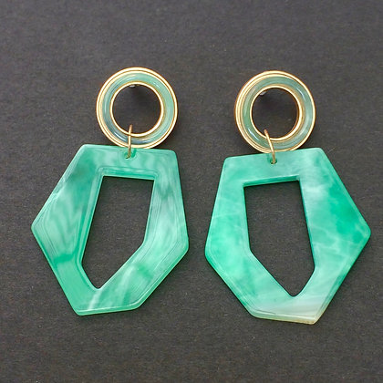 Lily asymmetric resin earrings