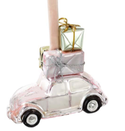 Pink Glass Car Decoration