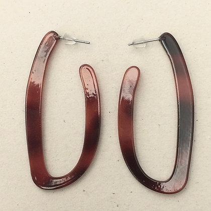 Emma long hoop resin earrings