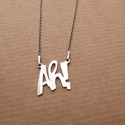 Ah! sterling silver necklace
